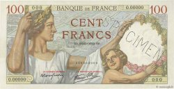 100 Francs SULLY Spécimen FRANCE  1939 F.26.00Sp2 AU