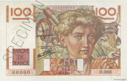 100 Francs JEUNE PAYSAN FRANCE  1945 F.28.00 SPL+