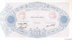 500 Francs BLEU ET ROSE FRANCE  1933 F.30.00 pr.NEUF