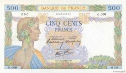 500 Francs LA PAIX FRANCE  1940 F.32.00 NEUF