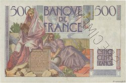 500 Francs CHATEAUBRIAND FRANCE  1945 F.34.00s1a TTB+