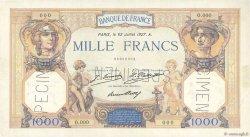 1000 Francs CÉRÈS ET MERCURE FRANCE  1927 F.37.00 SUP+