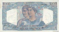 1000 Francs MINERVE ET HERCULE FRANCE  1945 F.41.01 SUP
