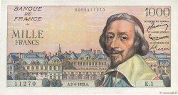 1000 Francs RICHELIEU FRANCE  1953 F.42.01 TTB+