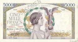 5000 Francs VICTOIRE modifié FRANCE  1938 F.45.00 SUP+