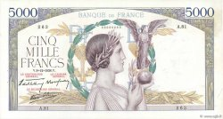 5000 Francs VICTOIRE Impression à plat FRANCE  1938 F.46.01 SUP