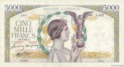 5000 Francs VICTOIRE Impression à plat FRANCE  1944 F.46.50 SPL