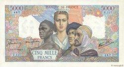 5000 Francs EMPIRE FRANÇAIS FRANCE  1942 F.47.05 pr.SPL