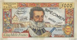5000 Francs HENRI IV FRANCE  1957 F.49.00 SUP