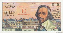 10 NF sur 1000 Francs RICHELIEU FRANCE  1957 F.53.01 VF