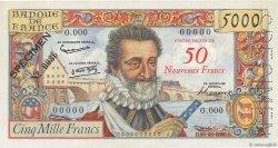 50 NF sur 5000 Francs HENRI IV FRANCE  1958 F.54.00 pr.SPL