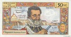 50 Nouveaux Francs HENRI IV FRANCE  1961 F.58.06 SPL