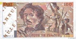 100 Francs DELACROIX imprimé en continu FRANCE  1990 F.69bis.01b2 SUP+