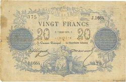 20 Francs type 1871 FRANCE  1873 F.A46.04 TB