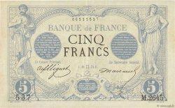 5 Francs NOIR FRANCE  1873 F.01.18 pr.SUP