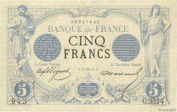 5 Francs NOIR FRANCE  1874 F.01.25 TTB