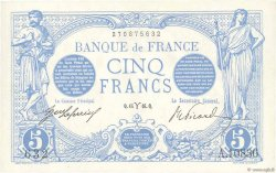 5 Francs BLEU FRANCE  1916 F.02.37 SPL+