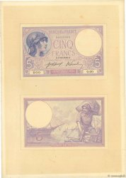 5 Francs VIOLET FRANCE  1917 F.03.00 AU