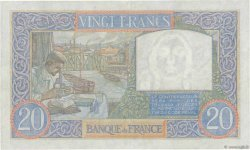 20 Francs SCIENCE ET TRAVAIL FRANCE  1939 F.12.01 SUP+