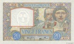 20 Francs SCIENCE ET TRAVAIL FRANCE  1940 F.12.03 SPL