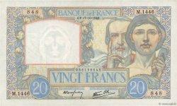 20 Francs SCIENCE ET TRAVAIL FRANCE  1940 F.12.09 pr.NEUF