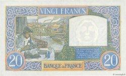 20 Francs SCIENCE ET TRAVAIL FRANCE  1941 F.12.12 SUP+
