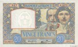 20 Francs SCIENCE ET TRAVAIL FRANCE  1941 F.12.14 SPL