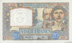 20 Francs SCIENCE ET TRAVAIL FRANCE  1941 F.12.18 pr.NEUF