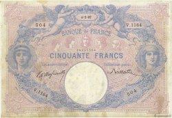 50 Francs BLEU ET ROSE FRANCE  1897 F.14.09 pr.TB
