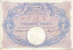 50 Francs BLEU ET ROSE FRANCE  1905 F.14.17 TB+