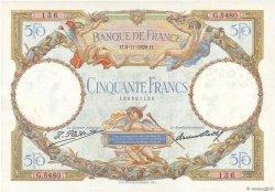 50 Francs LUC OLIVIER MERSON FRANCE  1929 F.15.03 SUP