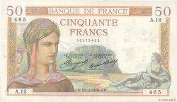 50 Francs CÉRÈS FRANCE  1934 F.17.01 TTB+