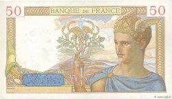 50 Francs CÉRÈS modifié FRANCE  1937 F.18.01 SUP+