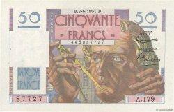 50 Francs LE VERRIER FRANCE  1951 F.20.18 SUP+