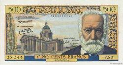 500 Francs VICTOR HUGO FRANCE  1957 F.35.07 SUP+