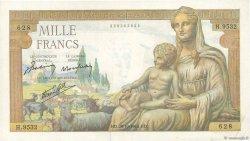 1000 Francs DÉESSE DÉMÉTER FRANCE  1943 F.40.38 TTB
