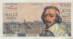 1000 Francs RICHELIEU FRANCE  1955 F.42.12 SPL