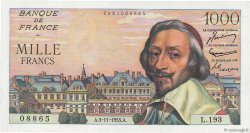 1000 Francs RICHELIEU FRANCE  1955 F.42.16 SPL