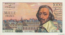 1000 Francs RICHELIEU FRANCE  1955 F.42.16 NEUF