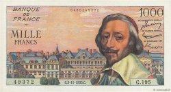 1000 Francs RICHELIEU FRANCE  1955 F.42.16 NEUF