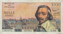 1000 Francs RICHELIEU FRANCE  1957 F.42.26 TB
