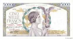 5000 Francs VICTOIRE Impression à plat FRANCE  1939 F.46.08 SPL+
