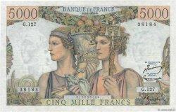 5000 Francs TERRE ET MER FRANCE  1953 F.48.08 SPL