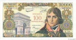 100 NF sur 10000 Francs BONAPARTE FRANCE  1958 F.55.01