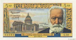 5 Nouveaux Francs VICTOR HUGO FRANCE  1961 F.56.07