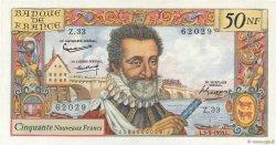 50 Nouveaux Francs HENRI IV FRANCE  1959 F.58.03 SPL+