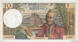10 Francs VOLTAIRE FRANCE  1973 F.62.63 TTB+