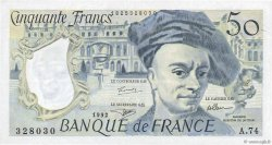 50 Francs QUENTIN DE LA TOUR FRANCE  1992 F.67.19a SUP