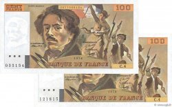 100 Francs DELACROIX FRANCE  1978 F.68.04 pr.NEUF