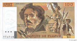 100 Francs DELACROIX modifié FRANCE  1978 F.69.01b pr.NEUF